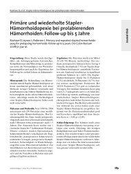 Primäre und wiederholte Stapler- Hämorrhoidopexie bei ...