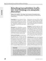 Sind Fistelplugs eine akzeptable Alternative?
