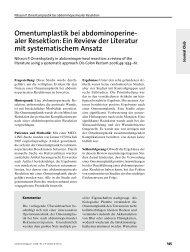 Omentumplastik bei abdominoperine- aler Resektion: Ein Review ...