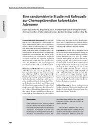Eine randomisierte Studie mit Rofecoxib zur Chemoprävention ...