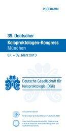 Das Programm des 39.Deutschen Koloproktologen-Kongresses ...