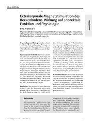Extrakorporale Magnetstimulation des Beckenbodens: Wirkung auf ...