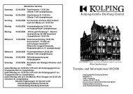 Kolpingsfamilie Duisburg-Zentral Termine und Informationen 09/2006