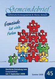 Gemeindebrief Nr. 45 - der Kolpingsfamilie Korbach