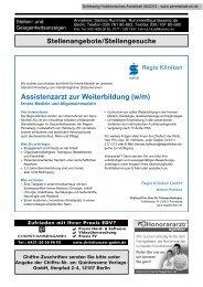 Assistenzarzt zur Weiterbildung (w/m) - Schleswig-Holsteinisches ...