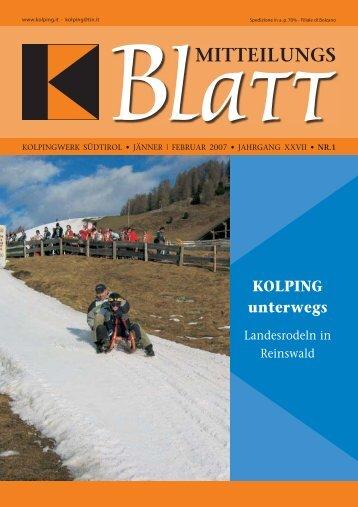 Kolping Jän-Feb 2007 - Kolpingwerk Südtirol