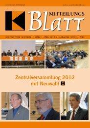 Zentralversammlung 2012 mit Neuwahl - Kolpingwerk Südtirol