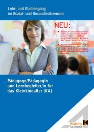 Pädagoge/Pädagogin und Lernbegleiter/in für das Kleinkindalter (KA)