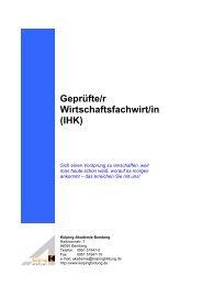 Geprüfte/r Wirtschaftsfachwirt/in (IHK)