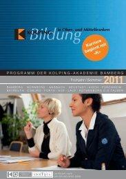 Download zum Programm Frühjahr/Sommer 2011 - Kolping Bildung ...