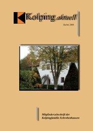Mitgliederzeitschrift der Kolpingfamilie Schrobenhausen