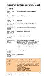 Programm April 09 - Kolpingsfamilie Vorst