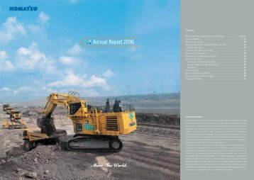 Annual Report 2006 - Komatsu