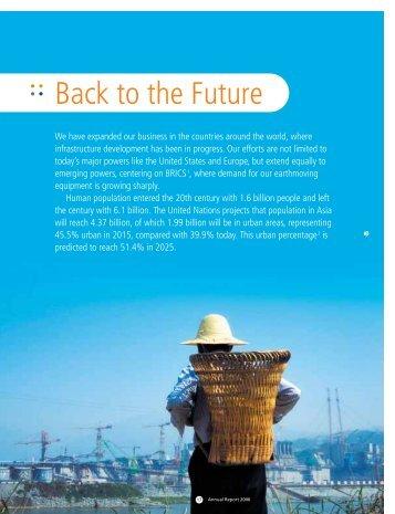 Feature Section : Back to the Future - Komatsu