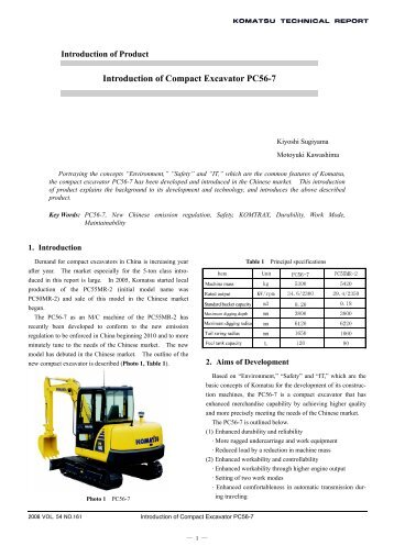 Introduction of Compact Excavator PC56-7 - Komatsu