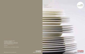 Freistehende Geräte /  Linienprogramm 2011 - AEG