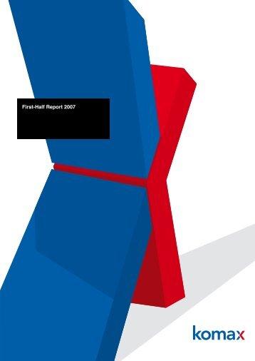 Half-year Report 2007 - Komax Group