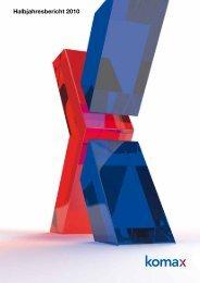 Halbjahresbericht 2010 - Komax Group