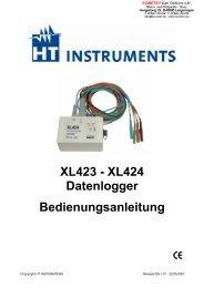 XL423 - XL424 Datenlogger Bedienungsanleitung - mg-solar-shop
