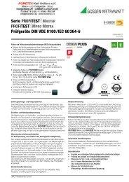 PDF-Datenblatt Profitest MPRO + MXTRA