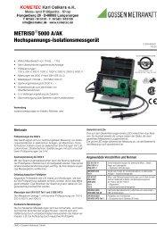 METRISO 5000 A/AK Hochspannungs-Isolationsmessgerät - Farnell