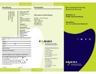 Veranstalter Anmeldung Berufsbegleitende Qualifizierung ... - KOMMA