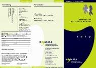 Strategische Personalentwicklung Veranstalter Anmeldung - KOMMA