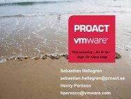 Henry Persson, Vmware och Sebastian Hellegren, Proact - KommITS