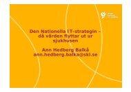 Ann Hedberg Balkå, Sveriges Kommuner och Landsting - KommITS
