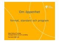 Mats Östling, Öppenhet - KommITS