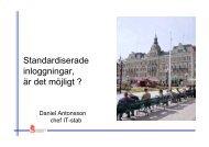 Daniel Antonsson, Sundsvalls kommun - KommITS
