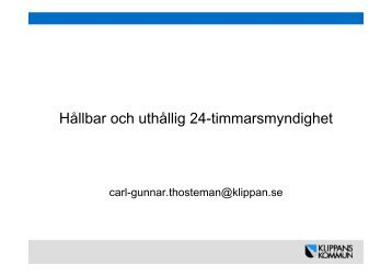 Carl-Gunnar Thosteman, Klippans kommun - KommITS