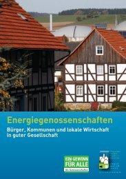 Energiegenossenschaften - Die Genossenschaften