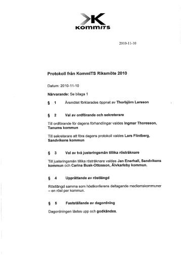 Protokoll - KommITS