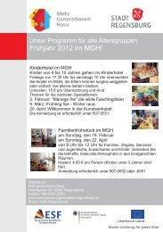 Frühjahrsprogramm 2012 - kommunale Jugendarbeit