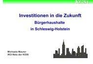 Bürgerhaushalte in Schleswig-Holstein - KOMMA