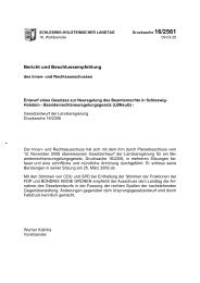 Gesetz zur Neuregelung des Beamtenrechts in Schleswig ... - KOMMA