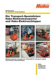 Hako-Elektrotransporter und Hako
