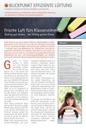 Journal_Blickpunkt Effiziente Lüftung - Wolf