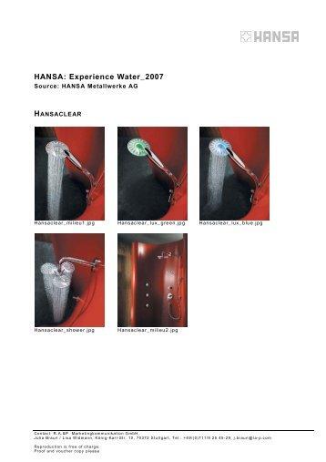 HANSA: Experience Water_2007 - Kommunalinnovationen.de