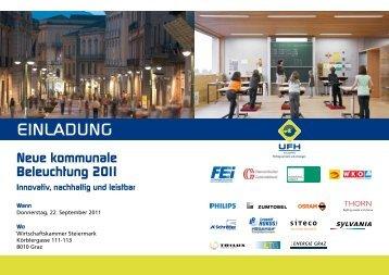 Neue kommunale Beleuchtung 2011 Innovativ, nachhaltig und leistbar