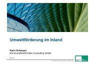 Karin Schweyer, Kommunalkredit / Umweltförderung im Inland