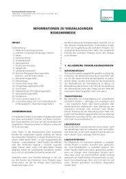 Risikohinweise Veranlagungen - Kommunalkredit Austria AG