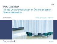 Dr. Andrea Kdolsky, PwC Österreich / Trends und Entwicklungen im ...