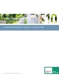 leistungsbericht activity report - Kommunalkredit Austria AG