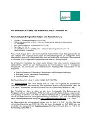 Pressetext - Kommunalkredit Austria AG