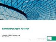 Infra Banking Experts - Kommunalkredit Austria AG