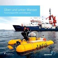Über und unter Wasser - Forschungsschiffe und Großgeräte (GEOMAR)