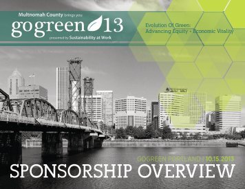 SPONSORSHIP OVERVIEW green go 13 - Go Green Conference