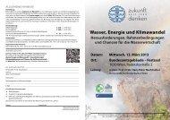 Wasser, Energie und Klimawandel - Kommunalnet